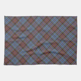 Anderson Clan Tartan Designed Print Hand Towels
