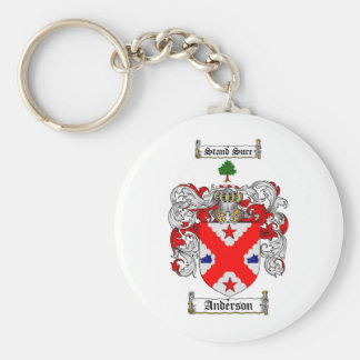 ANDERSON FAMILY CREST -  ANDERSON COAT OF ARMS BASIC ROUND BUTTON KEY RING