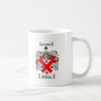 ANDERSON FAMILY CREST -  ANDERSON COAT OF ARMS BASIC WHITE MUG