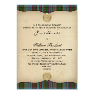 Anderson Family Tartan Plaid Wedding Invitations