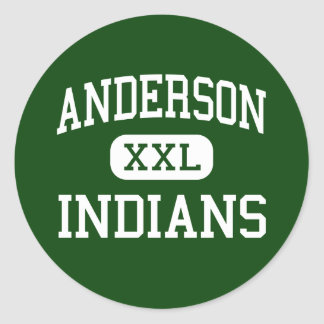 Anderson - Indians - High - Anderson Indiana Classic Round Sticker