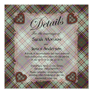 Anderson Scottish Tartan - Plaid 13 Cm X 13 Cm Square Invitation Card