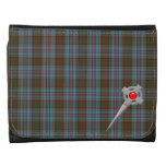 Anderson Tartan Plaid  Pattern with Celtic Pin