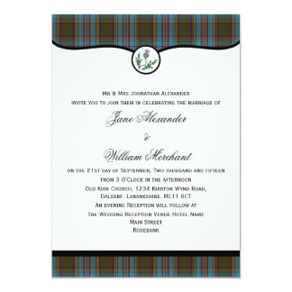 Anderson Tartan Plaid with Thistle Wedding Invite