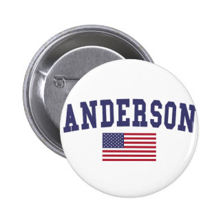 Anderson US Flag 6 Cm Round Badge
