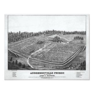 Andersonville Prison by John L Ransom 11 Cm X 14 Cm Invitation Card