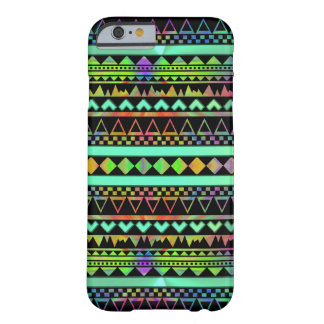 Andes Aztec Tribal Native Geometric Tie Die Neon Barely There iPhone 6 Case