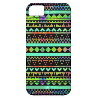 Andes Aztec Tribal Native Geometric Tie Die Neon iPhone 5 Cases