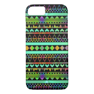 Andes Aztec Tribal Native Geometric Tie Die Neon iPhone 7 Case