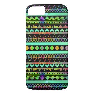 Andes Aztec Tribal Native Geometric Tie Die Neon iPhone 7 Case