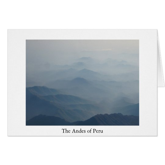 Andes of Peru Greeting Card