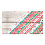 Andes Tribal Aztec Coral Teal Chevron Wood Pattern