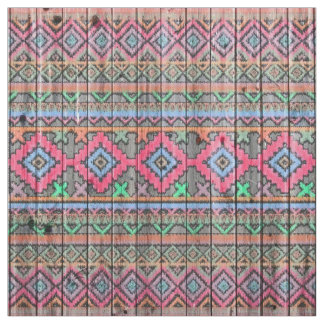 Andes Tribal Diamond Ikat Aztec Wood Pattern Fabric