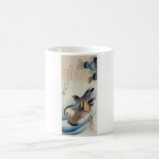 Ando Hiroshige Mandarin Ducks Color Woodcut Coffee Mug