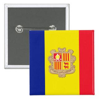 andorra 15 cm square badge