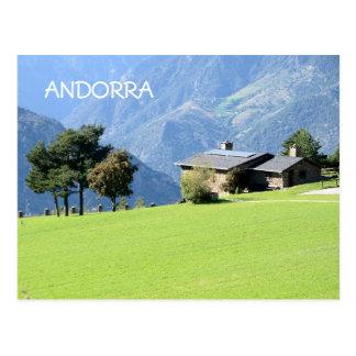 Andorra 2015 calendar postcard