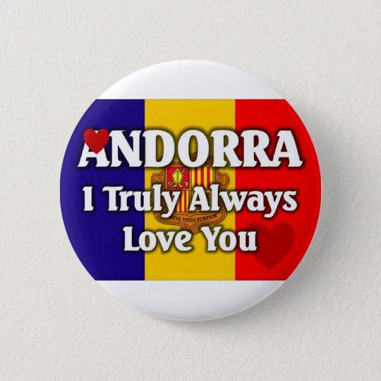 Andorra 6 Cm Round Badge