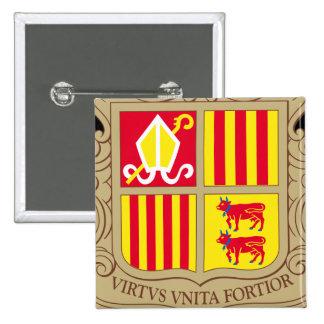 andorra arms 15 cm square badge