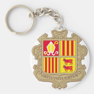 andorra arms basic round button key ring