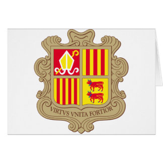 andorra arms greeting card