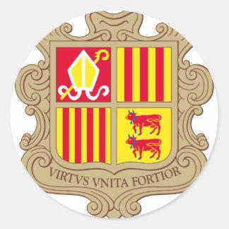 andorra arms round sticker