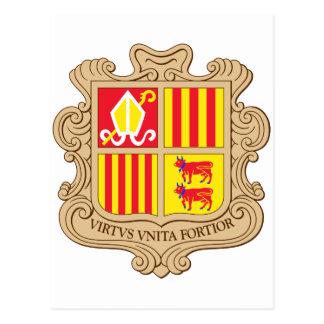 Andorra coat of arm postcard
