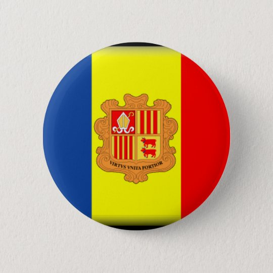 Andorra Flag 6 Cm Round Badge