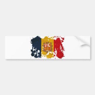 Andorra Flag Car Bumper Sticker