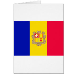 Andorra Flag Card