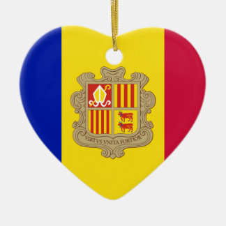 Andorra Flag Christmas Ornament