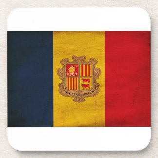 Andorra Flag Drink Coaster