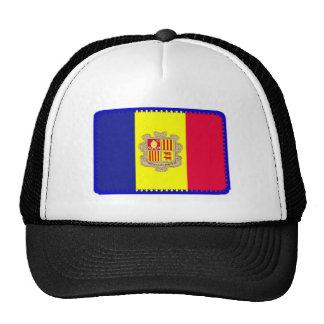 Andorra flag embroidered effect hat