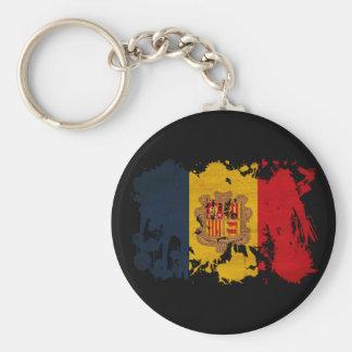 Andorra Flag Key Chain