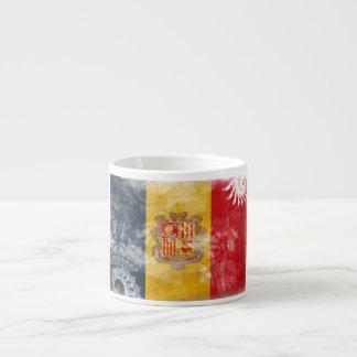 Andorra Flag 6 Oz Ceramic Espresso Cup