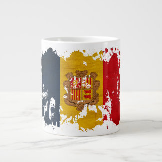 Andorra Flag 20 Oz Large Ceramic Coffee Mug