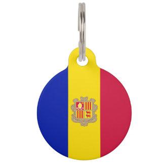 Andorra Flag Pet Name Tag