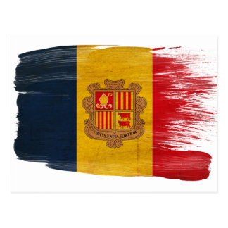 Andorra Flag Postcards