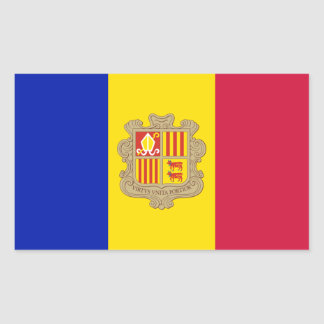 Andorra flag rectangular sticker