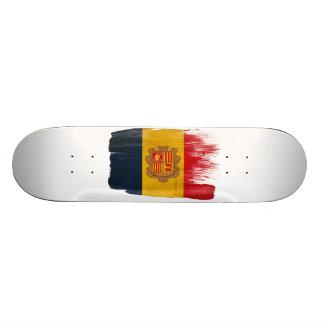 Andorra Flag Skate Deck