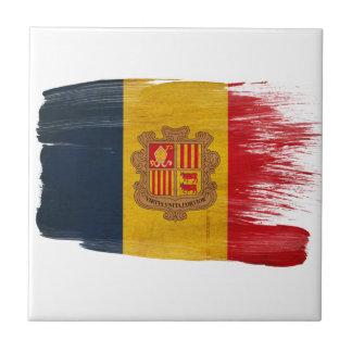 Andorra Flag Ceramic Tile