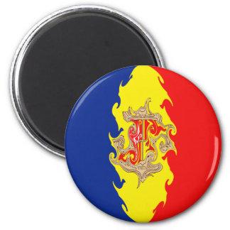Andorra Gnarly Flag Refrigerator Magnets