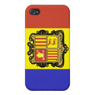 Andorra National Nation Flag iPhone 4/4S Cover