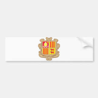 Andorra Official Coat Of Arms Heraldry Symbol Bumper Stickers