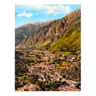 Andorra , panorama postcard
