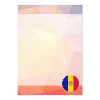Andorra Souvenir 13 Cm X 18 Cm Invitation Card