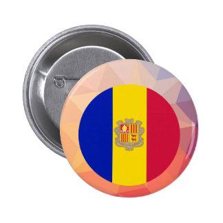 Andorra Souvenir 6 Cm Round Badge