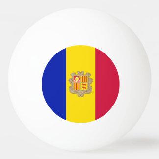 Andorran flag ping pong ball
