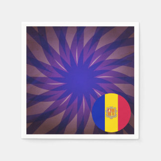Andorran Flag Souvenir Paper Napkin