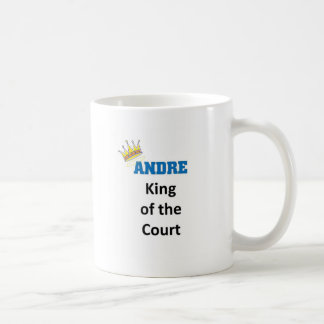 Andre king of the court classic white coffee mug