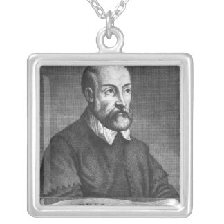 Andrea Palladio  engraved by Francesco Silver Plated Necklace